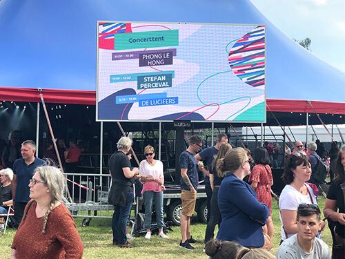 LED-scherm-huren-festival